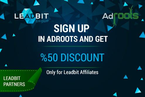 Adroots bonus for Leadbit affiliates