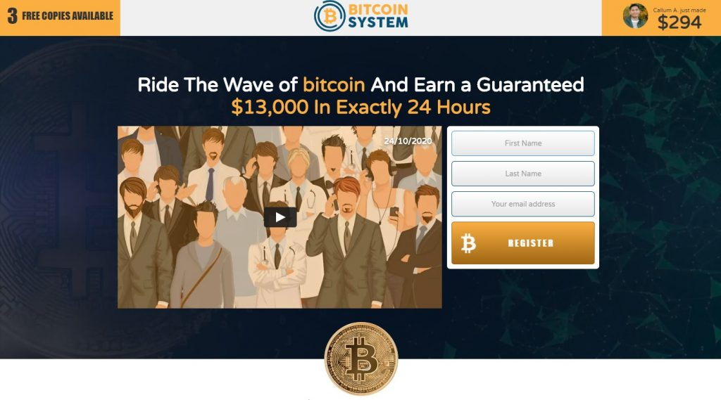 Landing page for Bitcoin Era