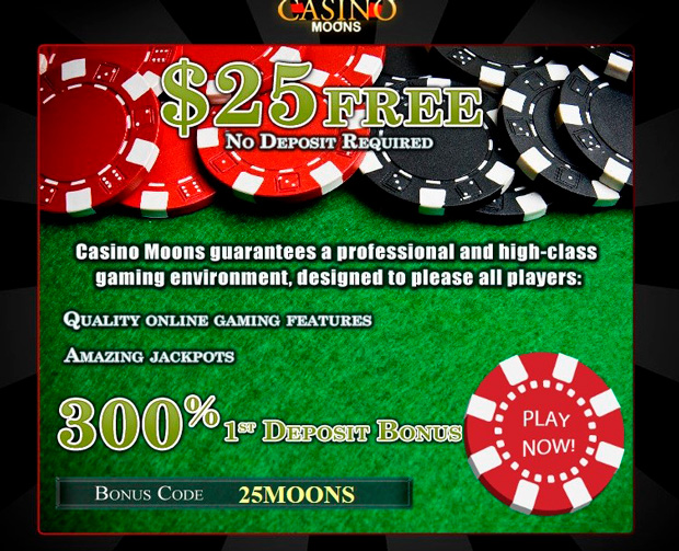 Landing page of Casino Moons