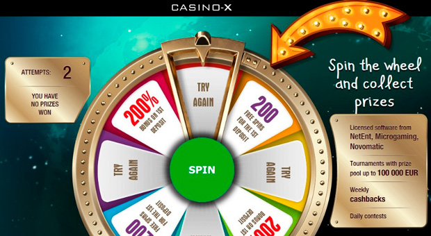 Landing page of the Casino-X affiliate program