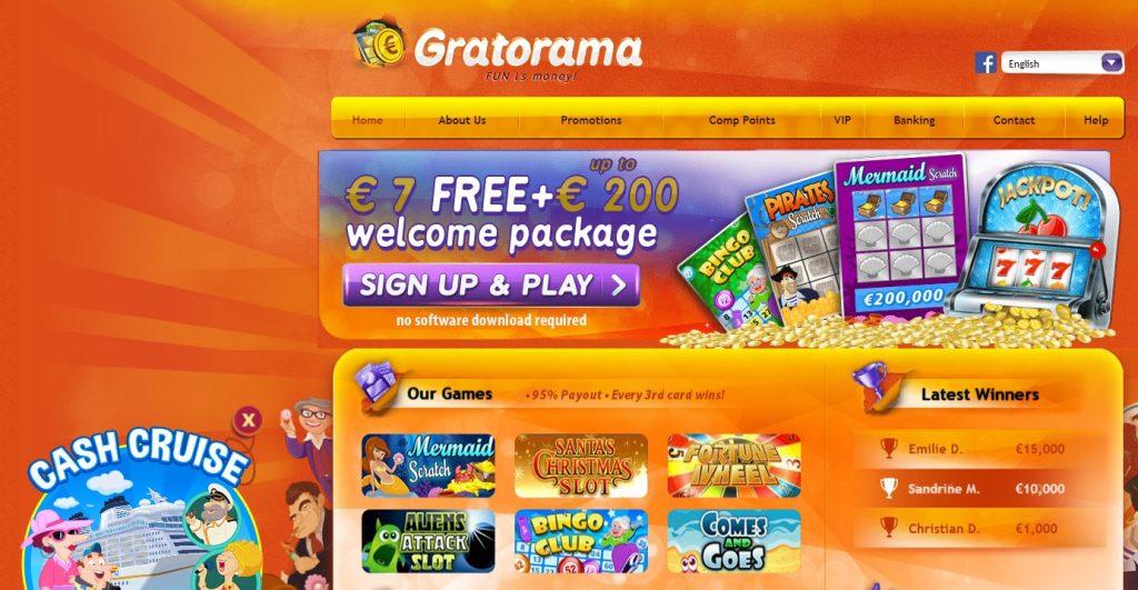 Landing page for GRATORAMA