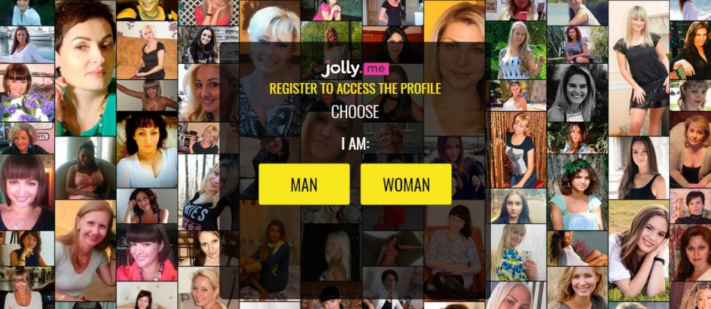 Landing page for JOLLY.ME