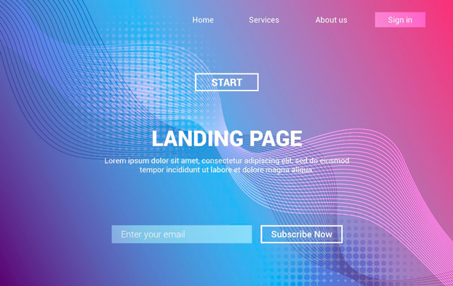 The landing page is your calling card