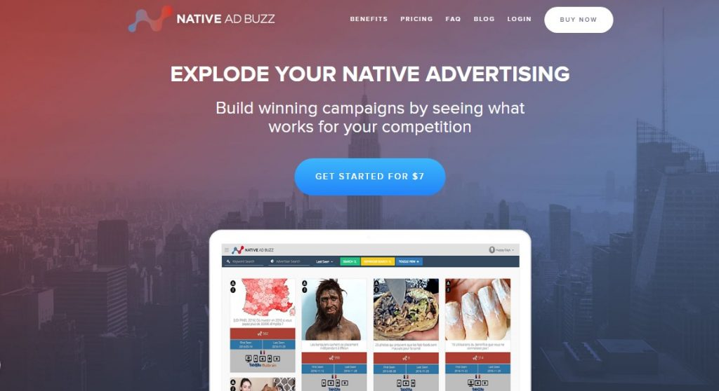Native Ad Buzz Home Page