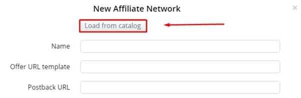 Choose an affiliate network