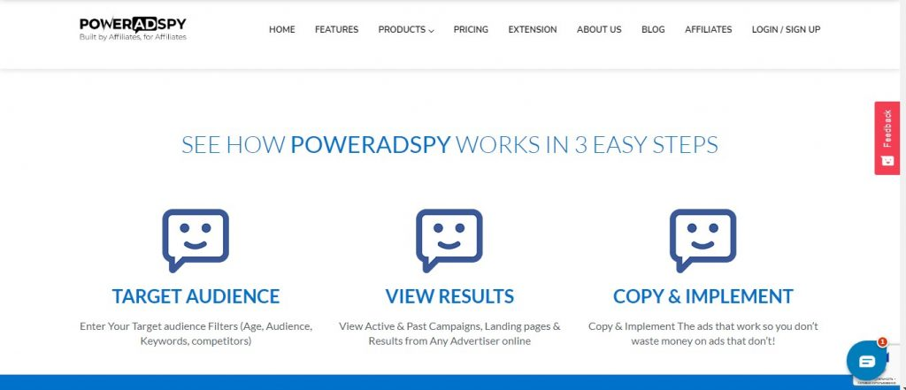 PowerAdSpy home page