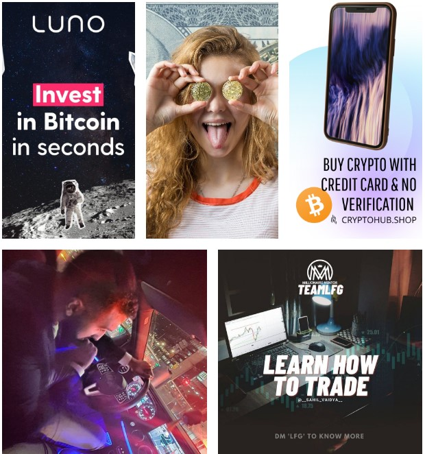 Examples of creatives for crypto offers