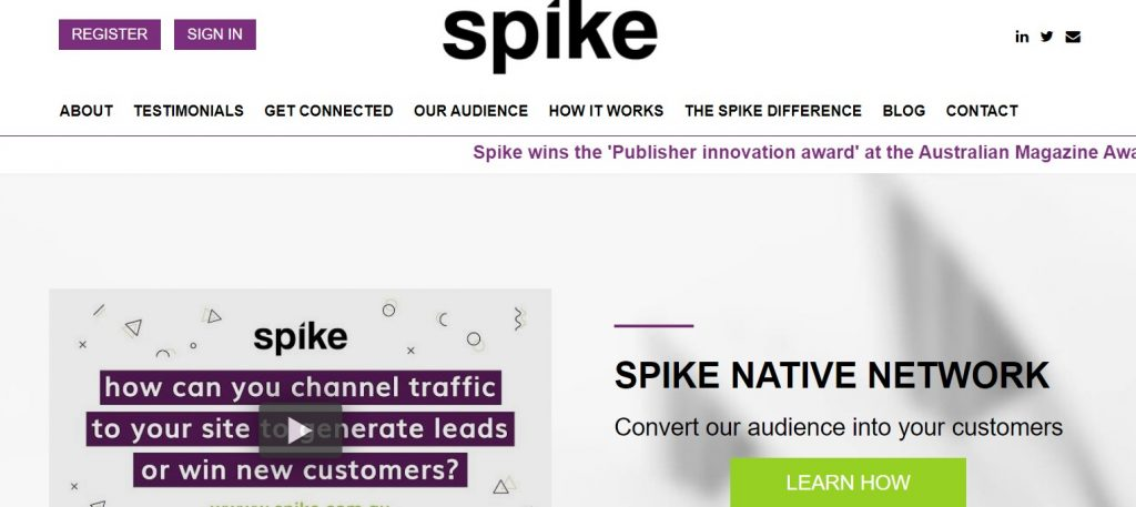 Spike official website