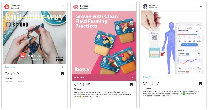 Example of an ad made with official Instagram targeted advertising system
