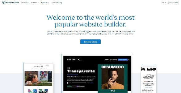 WordPress Builder home page